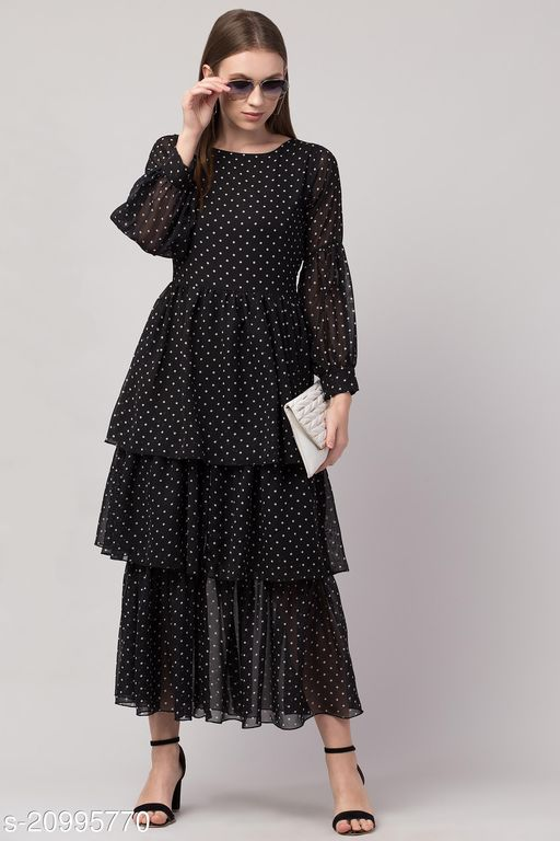 Women Gathered Black Dress