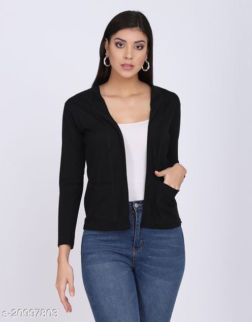 Women's Pure Cotton Pocket Shrugs