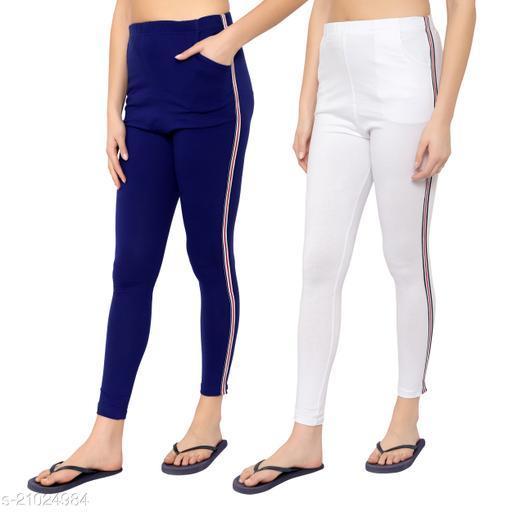 MYO Cotton Strip legging for girls & Womens Pack of 2