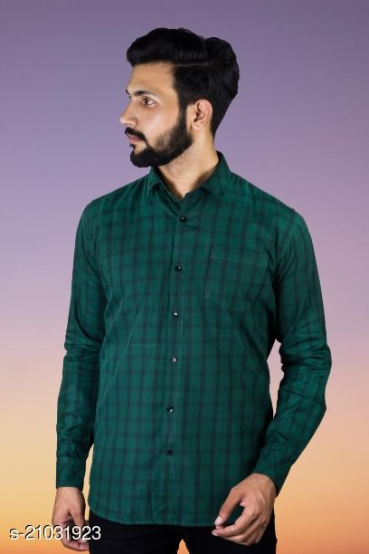 Lazzaro Mens CONCORD Teal Green Cotton Daily Wear Casual Shirt