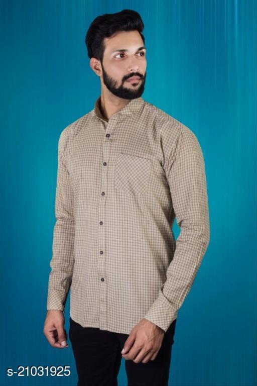 Lazzaro Mens MICRO CHEX Grey Cotton Daily Wear Casual Shirt