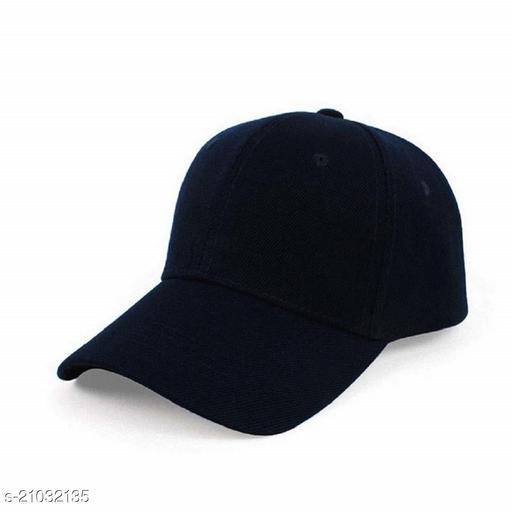 Trendy Men's Multicolor Cotton Blend Caps
