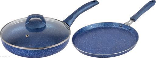 GRANITO Series Non stick 3pcs Cookware Set Dosa & Fry Pan Induction Bottom Cookware Set