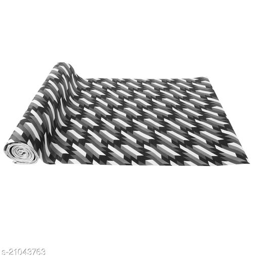 """Anti Skid and Easy Grip Washable PVC Shelf Liner Roll for Cabinets, Kithen Shelves and Drawer (27"""" X 10 mtr, Black)"""