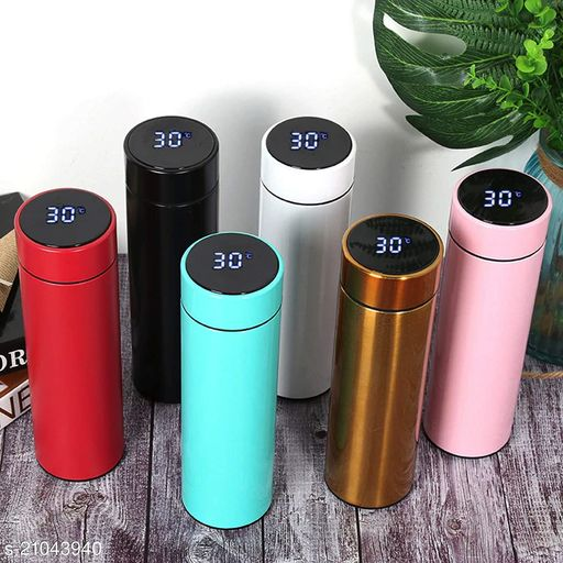 Stainless Steel Water Thermal Bottle LED Temperature Display Flask 500 ml MULTICOLOR
