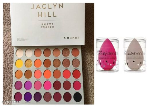 ALNI MORPHEE EYESHADOW THE HILL PALETTE (70GM) WITH 2 BEAUTY BLENDER PUFFS