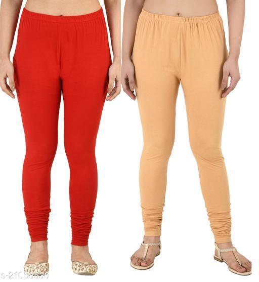 Elegant Fabalous Women Cotton Lycra Leggings Combo of 2