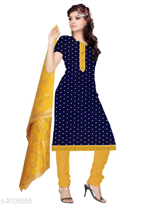 Beautiful Cotton Embroidery Suits & Dress Materials