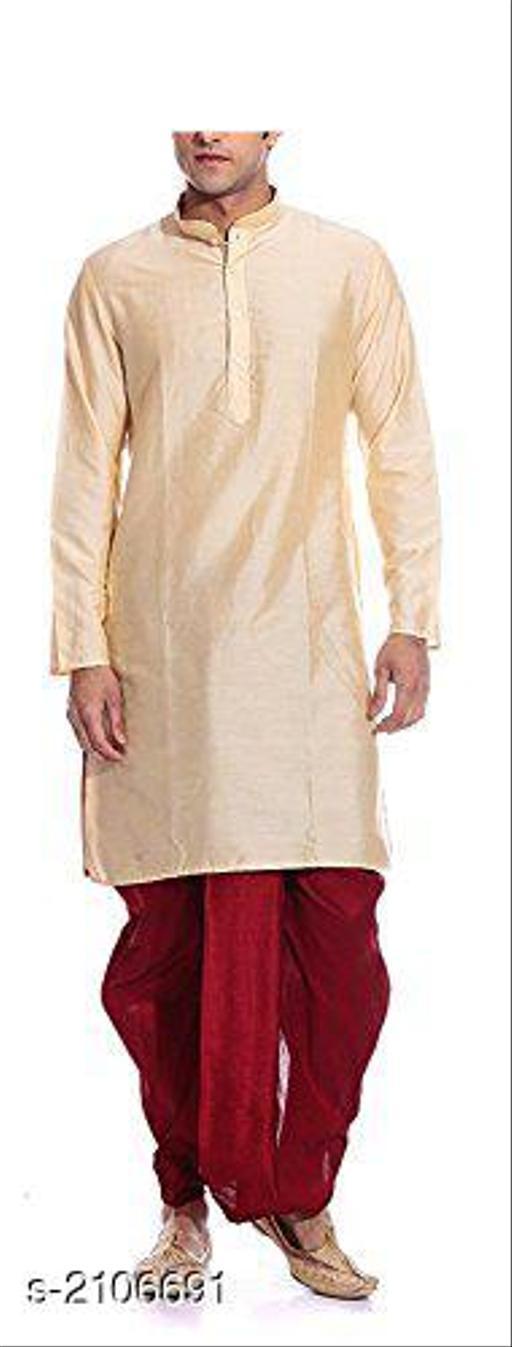 Ethnic Banarasi Dupion Silk Men's Kurta Set