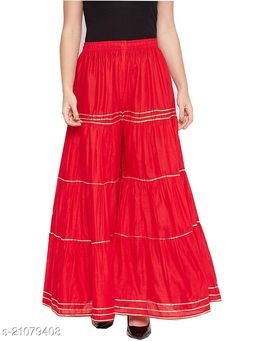 Stylish Palazzo For Women- Free Size-Fits All (Red)