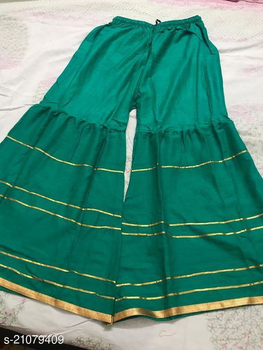 Stylish Palazzo For Women- Free Size-Fits All (Green)
