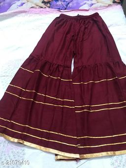 Stylish Palazzo For Women- Free Size-Fits All (Maroon)