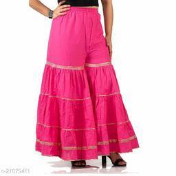 Stylish Palazzo For Women- Free Size-Fits All (Pink)