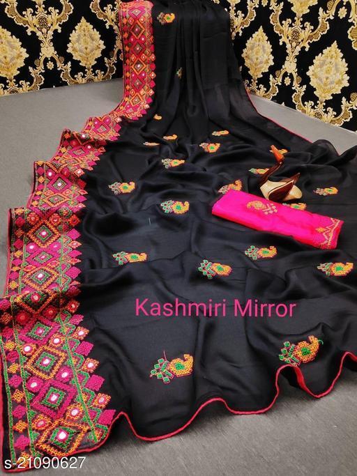 New stylish fancy kashmiri saree saree
