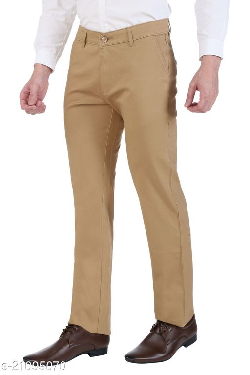 Ruan 100% Cotton Dobby Formal Trousers For Men