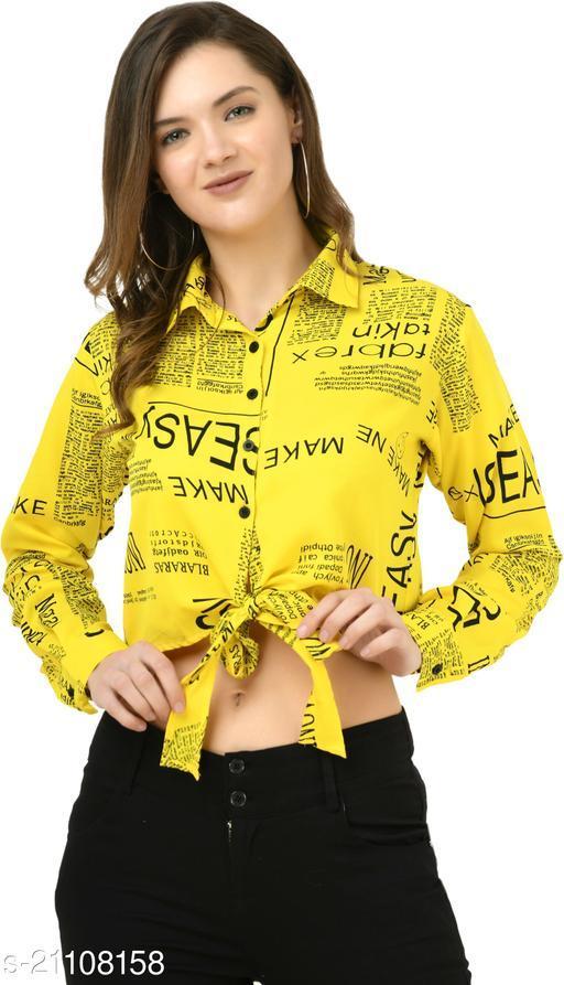 Women/Girls Paper Top Yellow