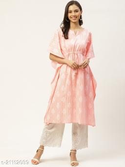 Maaesa Cotton Pink Kaftan