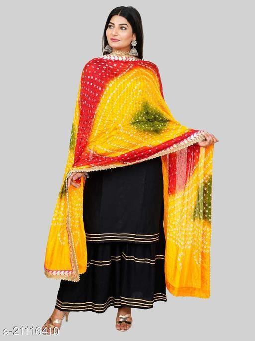 Art Silk Bhandhej Bandhani Ethnic 2.25 Mter Dupatta