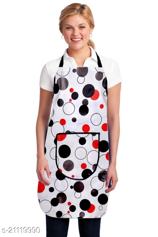 Bhatia Home Decors Apron For Women Waterproof Plastic (20x30, Free Size)