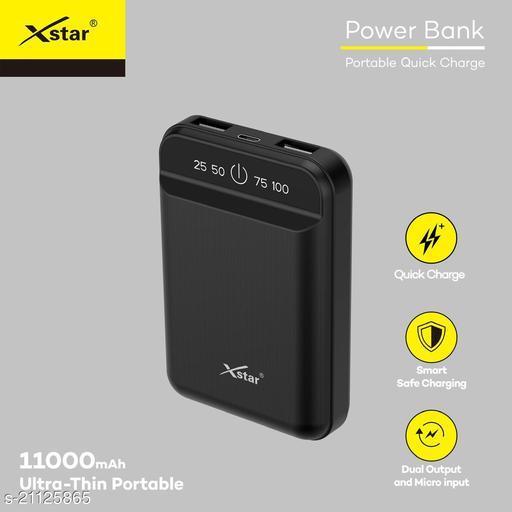 Xstar 11000mAh Li-Polymer Power Bank with fast charging mi power bank realme power bank ambrane power bank syska power bank samsung power bank