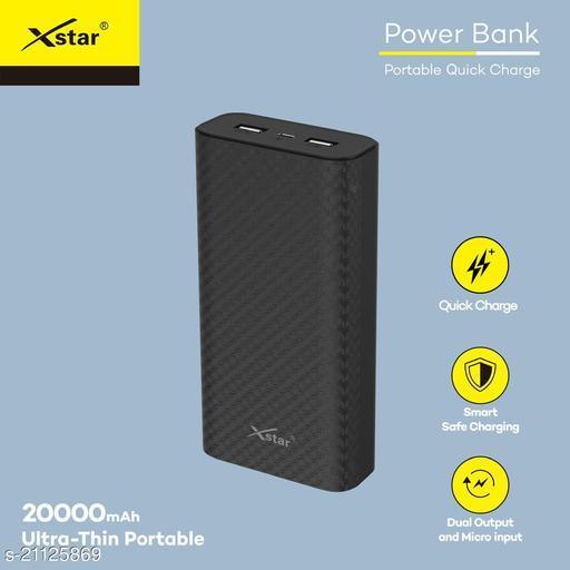 Xstar 20000mAh Li-Polymer Power Bank with fast charging mi power bank realme power bank ambrane power bank syska power bank protronics power bank