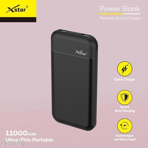 Xstar 11000mAh Li-Polymer Power Bank with fast charging mi power bank realme power bank ambrane power bank syska power bank vivo power bank