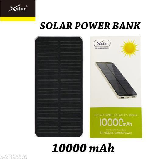 Xstar 10000mAh Li-Polymer Solar Power Bank with fast charging mi power bank realme power bank ambrane power bank syska power bank power bank