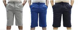 LOVO Men's Cotton 3 4th Pants Capri Pack of 3