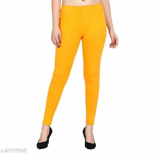 RGS_Women's Slim Fit Leggings(Single)(Light Mustard)