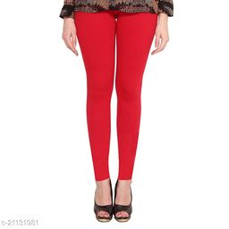 RGS_Women's Slim Fit Leggings(Single)(Red)