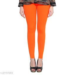 RGS_Women's Slim Fit Leggings(Single)(Bright Orange)