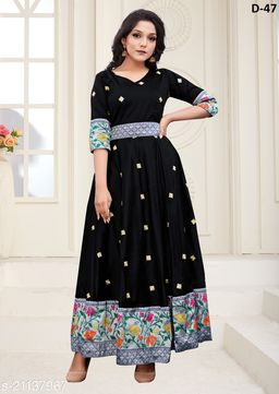 Trendy Black Colored Partywear Woven Jacquard - Tapetta Gown
