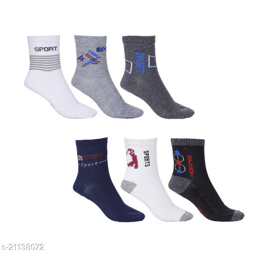 Pack of 6 Multi Color Ankle Socks for men and women