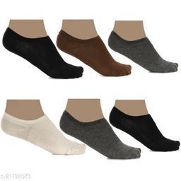 Pack of 6 Multi Color Loafer Socks for men and women
