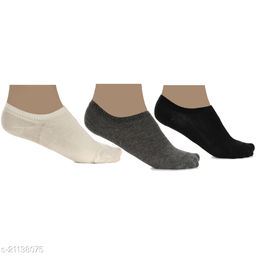 Pack of 3 Multi Color Loafer Socks for men and women