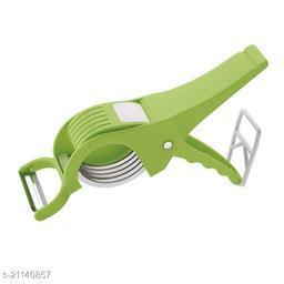 EMPIRE Veg Cutter Sharp Stainless Steel 5 Blade Vegetable Cutter, Scissor Style Cutter with 1 Vegetables Cutter Combo | Safe to use | Peeler and Cutter Vegetable & Fruit Chopper  (1 pack of vegetable cutter)