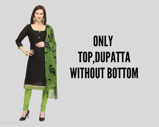 Cotton Linen Jacquard Daily wear Top and Dupatta Without Bottom