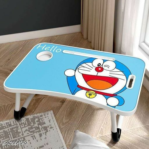 Laptop Table,Multipurpose Foldable Laptop Table with Cup Holder, Study Table, Bed Table, Breakfast Table, Foldable & Portable/Ergonomic & Rounded Edges/Non-Slip Legs