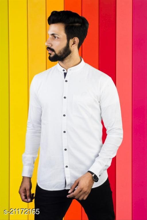 Lazzaro Mens LILEN SHIRT White Linen Daily Wear Casual Shirt