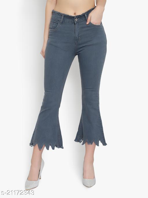 ladies High waist wide leg/Bell bottom jeans