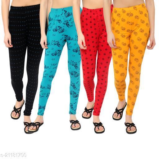MYO Cotton Printd legging for girls & Womens Pack of 4