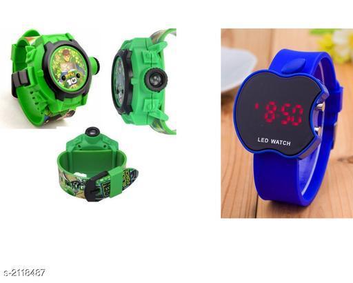 Stylish Plastic Kid's Digital Watches ( Pack Of 2)