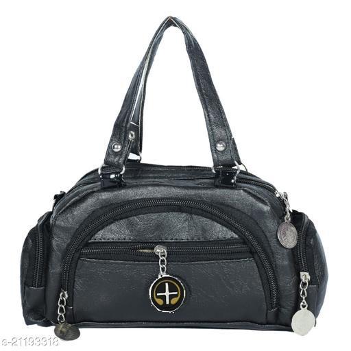 Lehrua Women Black Mini Messenger Bag Sixe (24.5x14.3x5.5) CM