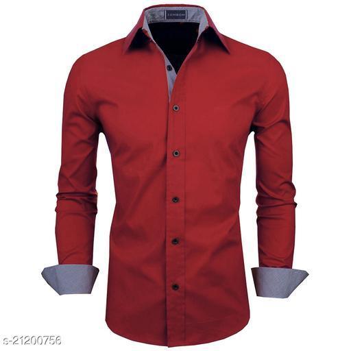 Zombom Men's Cotton Polyester Blend Regular Fit Shirt