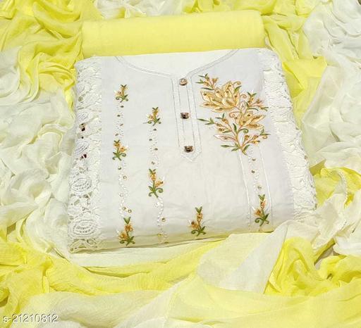 Designer Gorgeous Soft Organdi Cotton Dress Materials