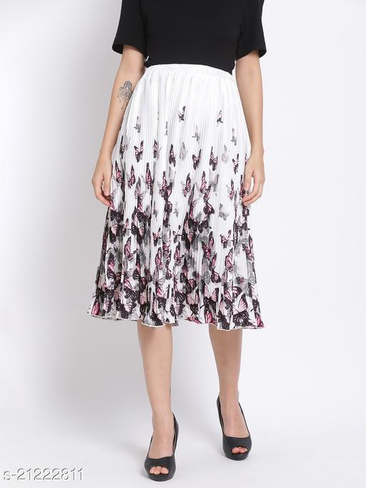 Butterfly Midi Pleated Women Skirt