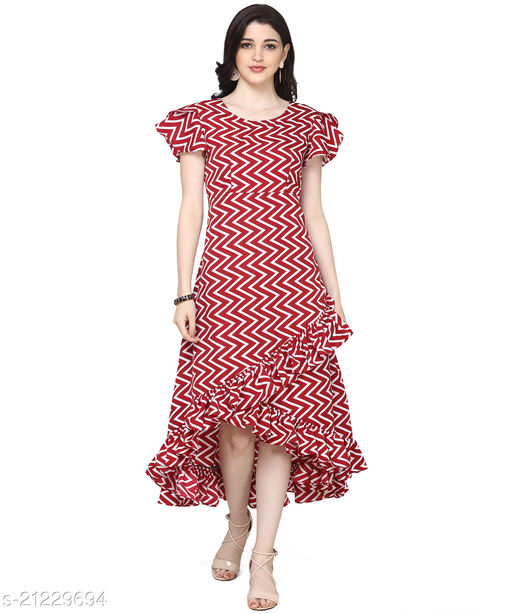 Oomph! Women'S Crepe Wrap Maxi Dress - Crimson Red
