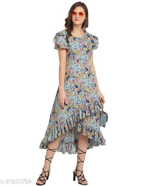 Oomph! Women'S Crepe Wrap Maxi Dress - Aegan Blue