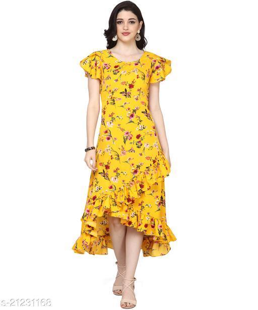 Oomph! Women'S Crepe Wrap Maxi Dress - Tuscansun Yellow
