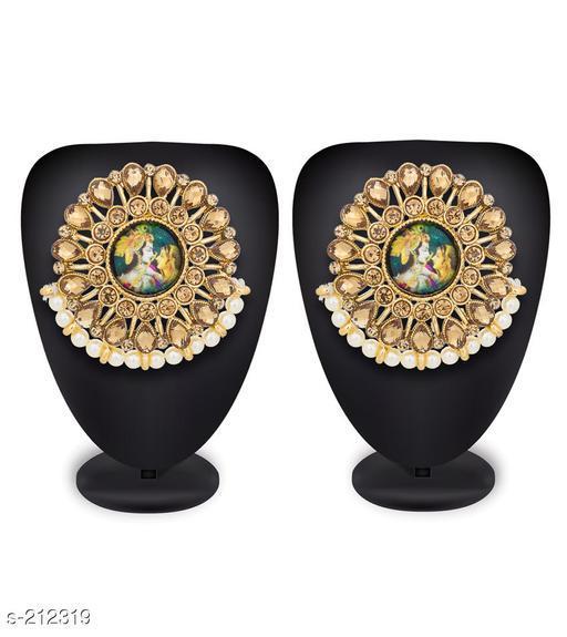 Traditional Kundan Radha Krishna Earrings